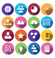 Web Icons Set in Flat Design vector image
