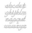 white neon lowercase script font vector image