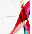 modern geometric wavy shapes on light vector image vector image