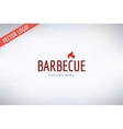 Barbecue and Food Logo Outdoor Kitchen or vector image