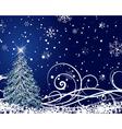 beautiful christmas new year card vector image