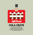 Flat Design Cola Crate In Hand vector image vector image