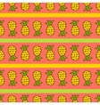 Seamless summer background Hand drawn pattern vector image
