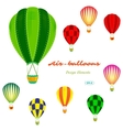 air balloons set retro vector image