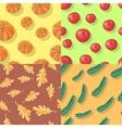 Autumn Seamless Patterns Fall Endless Textures vector image