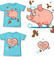 cute bunny with heart shirt vector image