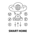 Line style design concept of smart house network vector image