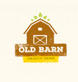 old barn local farm creative sign concept organic vector image