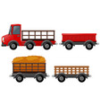pick up truck and different design of carts vector image