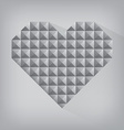 retro heart triangle abstract love valentine day vector image