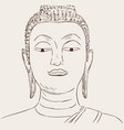 thai culture concept with buddha hand drawb vector image