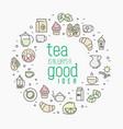 thin line of tea tea vector image