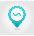 Water waves map pin icon vector image