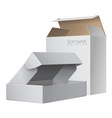 Two White Package Box Opened For Software vector image