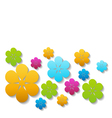 bright paper flowers vector image