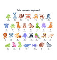 cartoon animals collection vector image
