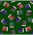 colored paper book seamless pattern vector image