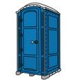blue plastic mobile toilet vector image