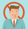 censorship concept in flat style vector image vector image
