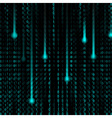 3d Matrix background vector image