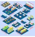 Bus Station Isometric vector image