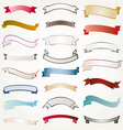 set of design ribbons banners vector image vector image