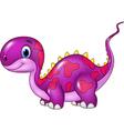 Cute baby dinosaur posing isolated vector image