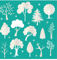 glitter trees vector image