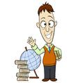 Cartoon teacher vector image