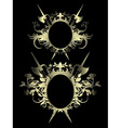 two ornamental shields vector image vector image