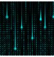 3d Matrix background vector image vector image