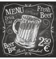 beer mug logo design template alcoholic vector image