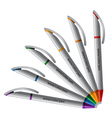 Colorful pens vector image