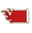 fire flames white emblem icon image vector image