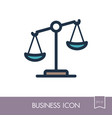law scale icon justice outline icon vector image