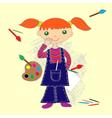 Little painter vector image