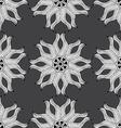 Oriental monochrome ornament vector image
