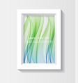 photo frame with abstract waves vector image