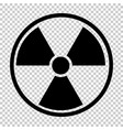 radiation nuclear symbol vector image