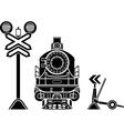 Railway stencils vector image
