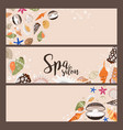 spa salon banners with sea shells vector image