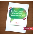 Wisdom quote card on wood background vector image