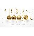 Golden balls 2017 vector image