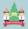 Merry Chirstmas businessmen vector image vector image