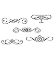 Monograms and swirl elements vector image
