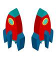 3d design for red rocket vector image