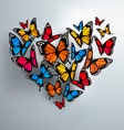 Beautiful Background With Valentines Heart of vector image vector image