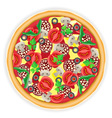 pizza isolated on white background vector image vector image