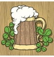Beer Mug in Cartoon Style vector image