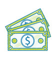 bills dollar cash money to commercial economy vector image